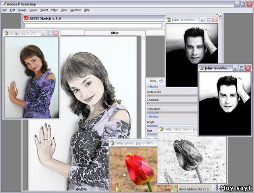 Программа когда фото можно превратить картинку ручной работы, девочки